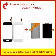 """4.0 """"Samsung Galaxy Ace 3 Için S7270 S7272 S7275 lcd ekran Ile dokunmatik ekran digitizer sensör paneli Pantalla Monitör"""