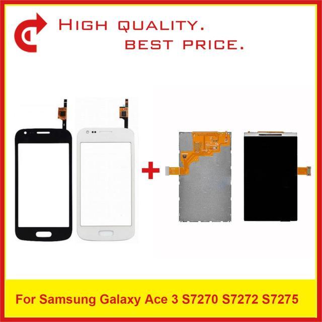 """4.0 """"עבור Samsung Galaxy Ace 3 S7270 S7272 S7275 LCD תצוגה עם מסך מגע Digitizer חיישן פנל Pantalla צג"""