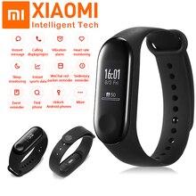 Xiao mi оригинальный mi Band 2 3 фитнес-трекер Браслет пульсометр умный Браслет miband 3 OLED сенсорный экран умные часы Smartband