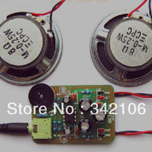 Free Shipping!!! 5pcs Electronic production suite / amplifier kit / TDA2822M /