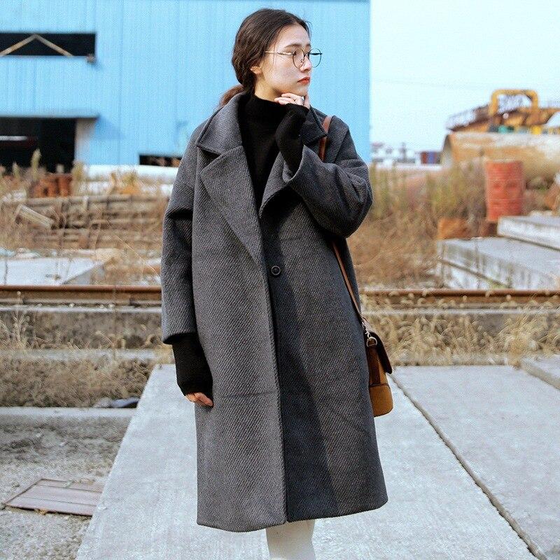 Popular Grey Korean Wool Coat-Buy Cheap Grey Korean Wool Coat lots ...
