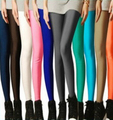 2016 Hot New Women's Large size Nine points Leggings Ladies Elastic force Thin Candy color Leggings female Fluorescent Leggings