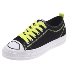 Fashion Shoes Woman 2019 Summer New High Quality Lace-up Sneakers Solid Flat Canvas Women Shoes Solid Basket Femme Shoes 2016 women high upper platform brand canvas shoes woman lace up shoes women flat walking shoes famous designer chaussure femme