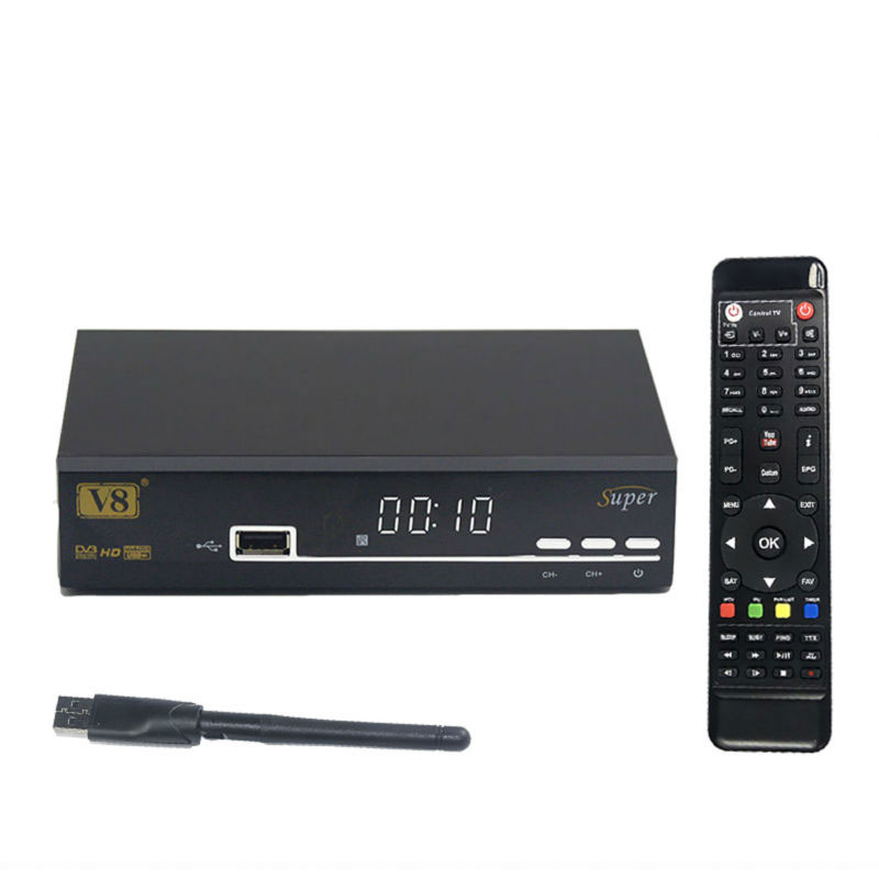 fast shipping freesat V8 Super dvb-s2 receiver androrid TV HD Satellite Receiver support Cccam server 1 year Satellite Receiver