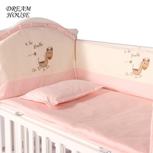 Baby Cot Bumpers for Newborn Cotton Baby Crib Protector Infant Crib Cartoon Cushions Kids Bed Girl Boy Bedroom Decoration