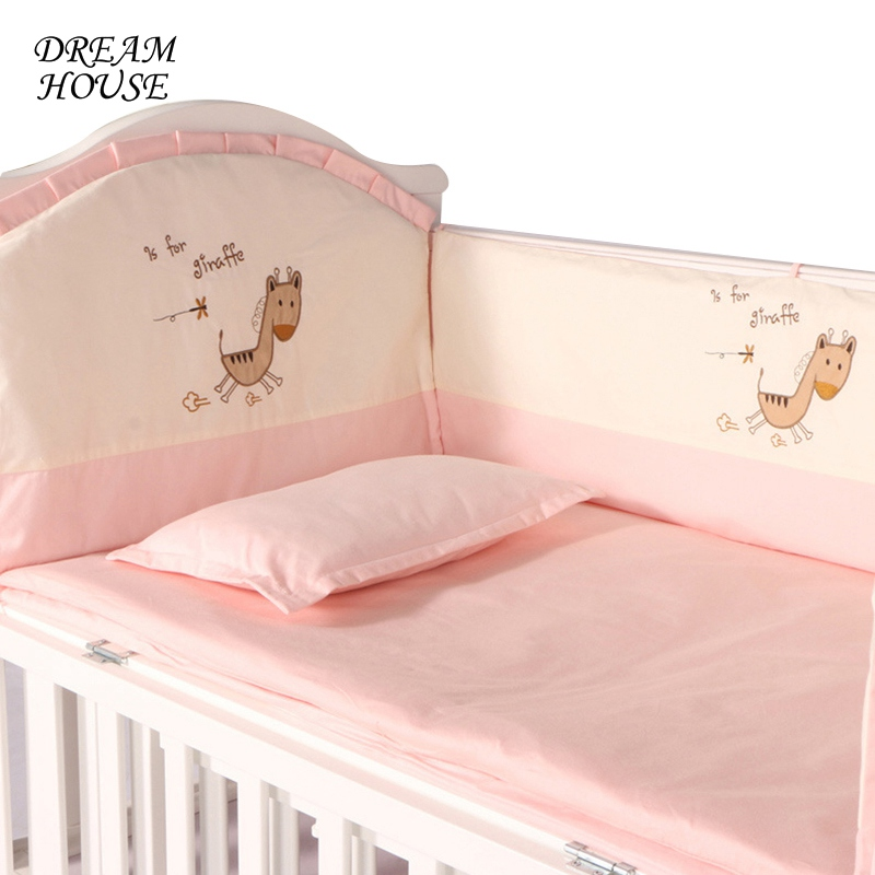 Baby Cot Bumpers for Newborn Cotton Baby Crib Protector Infant Crib Cartoon Cushions Kids Bed Girl Boy Bedroom Decoration 6 15pcs lot squqre cot bumpers with crib sheets grey star infant crib bumpers bed protecter