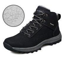 Warm Winter Plus Fur Cotton High Tops Snow Boots Casual Sport Men's Flats Shoes Men Metal Ankle Boots Botines Hombre Comfortable