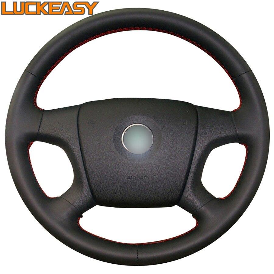 Black Artificial Leather Car Steering Wheel Cover for Old Skoda Octavia Skoda Fabia