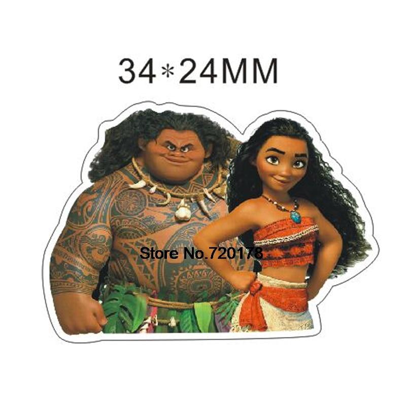 Flatback Resin Crafts Moana Cartoon Resin Planar Flat Back For Diy Craft 50pcs 34*24mm RET1047H