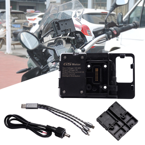 For BMW R1200GS r1200 GS handheld gps navigator usb charger motorcycle Phone Navigation holder Africa Twin CRF1000L ADV 800GS(China)