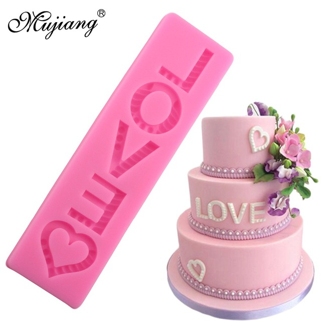 Mujiang Valentinstag Liebe Silikon Backform Buchstaben Hochzeit