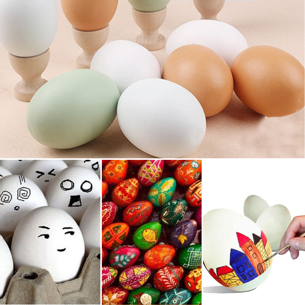Antistress Novelty Gag Toys Wood Egg Gadget Stress Relief Toys For Girls DIY Anti-stress Gags Practical Jokes Fun Pretend Play
