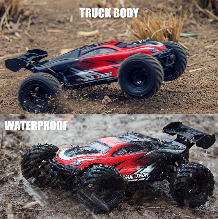 US $64 87 25% OFF|50km/h Bigfoot Climbing RC Truck 1:18 Scale 4x4 Radio RC  Off road Car Waterproof Remote Control Trucks Toys For Children Vehicle-in