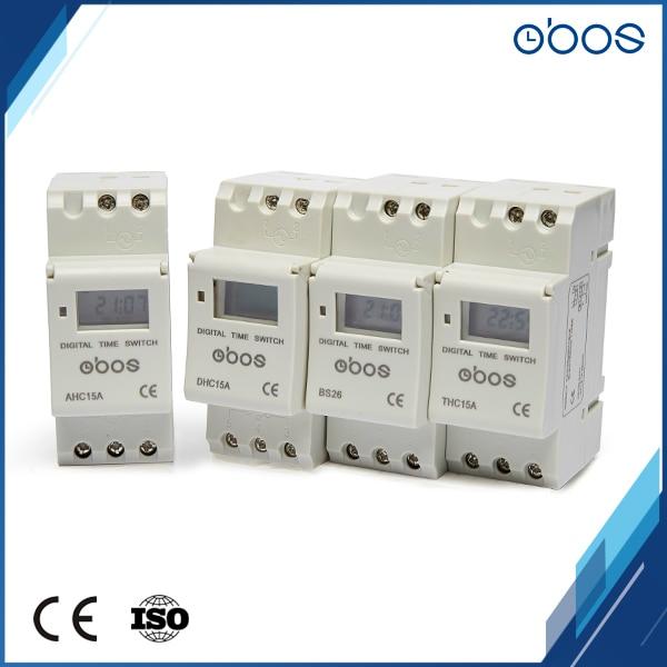 OBOS Brand New Power outages memory 220V digital timer din timer digital with 16 times on/off per day time set range 1min-168H