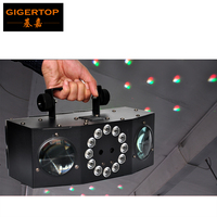 TIPTOP COLONY 4 FX Disco Party Led Laser Light Slim LED white strobe RGBA Rotating Moonflower Effect IEC AC IN/OUT LED display