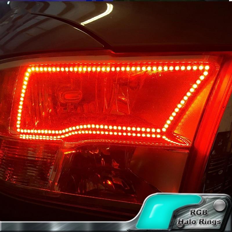 5 sets wholesale for 2009-2016 Dodge Ram 1500 2500 3500 4500 5500 Angel Eye LED Halo Ring RGB Multi-Color Sport Headlight kits takpart for 2009 2012 dodge ram 1500 2500 3500 quad