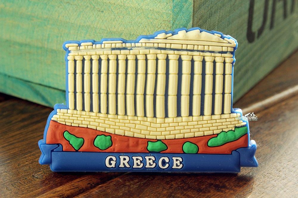 Greece Athens Acropolis Tourist Travel Souvenir Rubber Fridge Magnet GIFT IDEA
