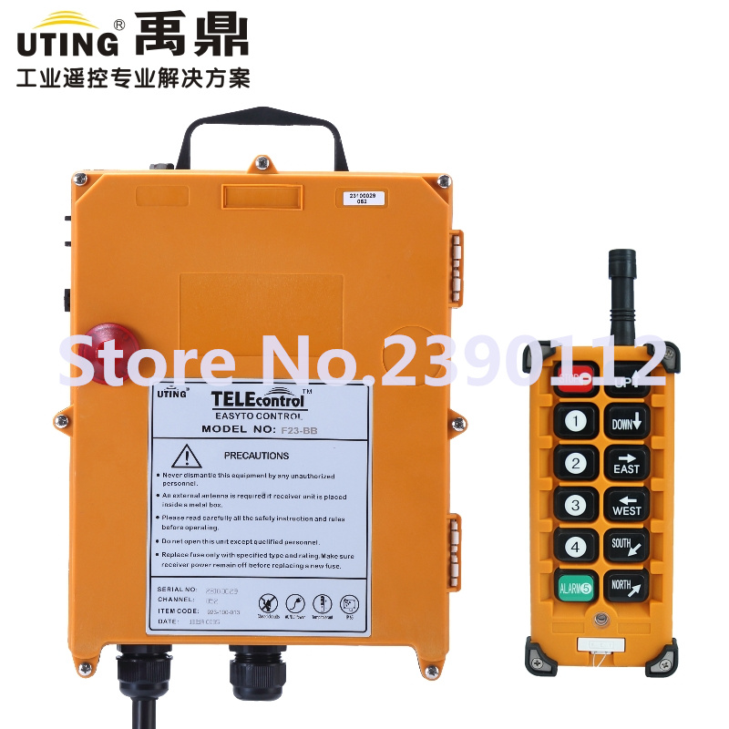 12V 433MHz Remote Control for Crane/Industrial Wireless Remote Control F23-BB(L) for hoist crane 1 transmitter and 1 receiver 220vac wireless crane remote control f23 a industrial remote control hoist crane push button switch 2 transmitters 1 receiver