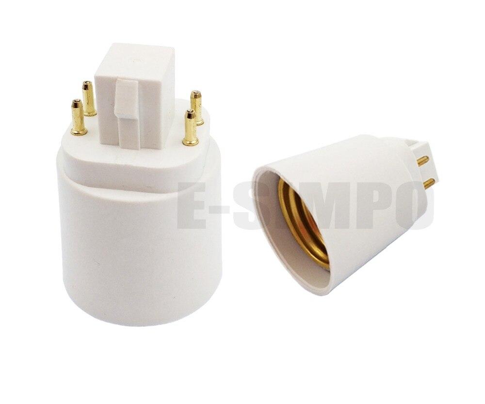 4 Pins Lamp Socket Adapter GX24Q To E27 Bulb Holder Socket Bulb Base Lamp Holder Converter Gx24q-1,-2, -3 To E27/e26 Adaptor