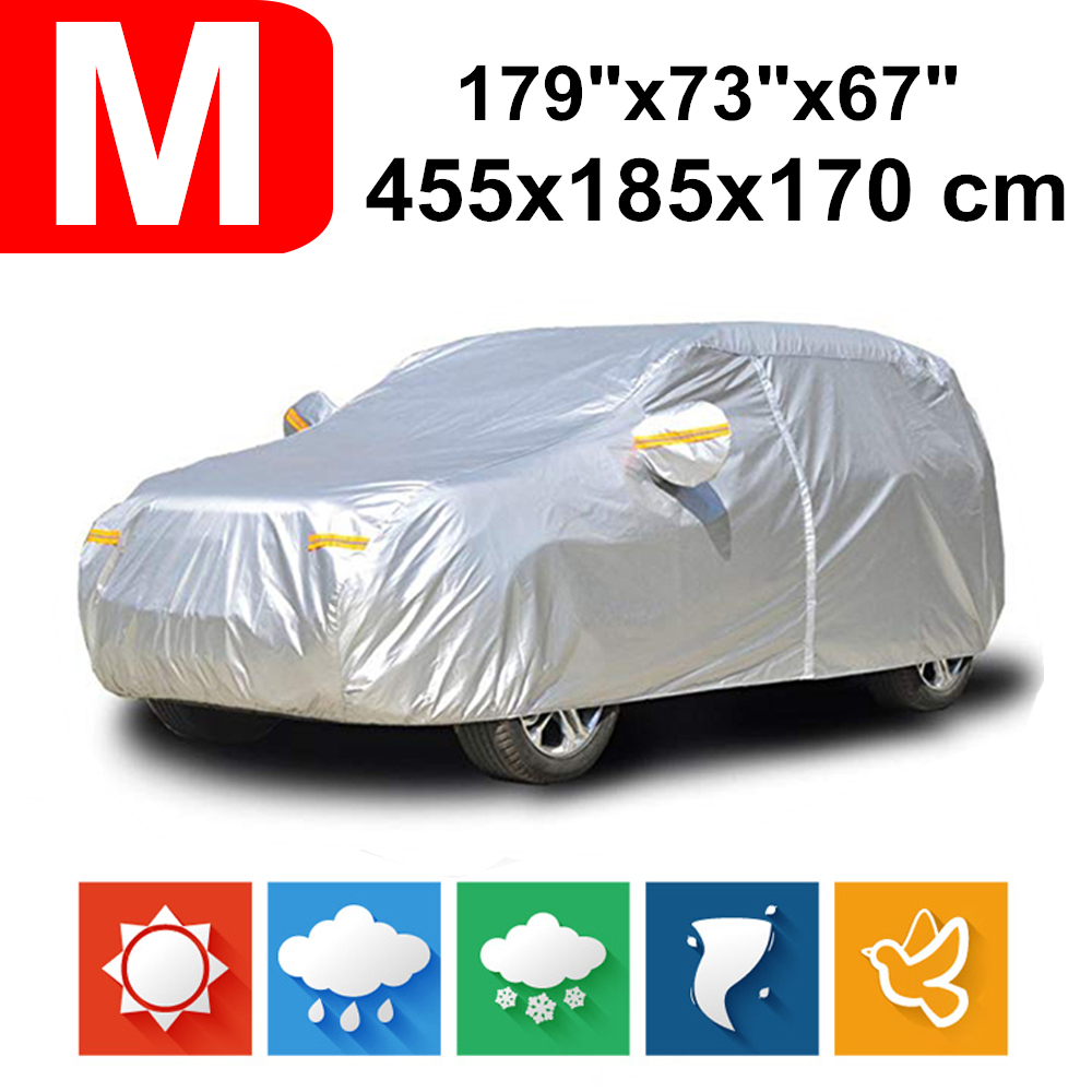 455x185x170 Universal SUV 190T Waterproof Car Covers Dust Rain Snow UV Protection For Toyota C HR