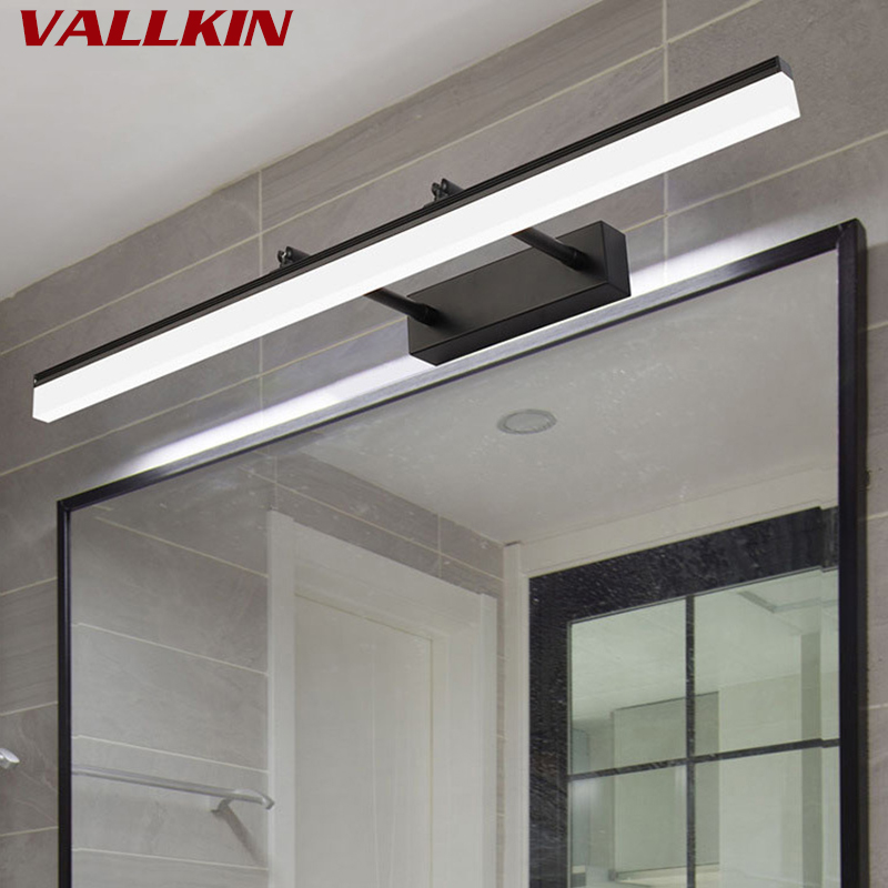 Modern Metal LED Front Mirror Lights Bathroom Makeup Wall Lamps LED Vanity Toilet Wall Mounted Sconces Lamp Lighting Fixture цена 2017