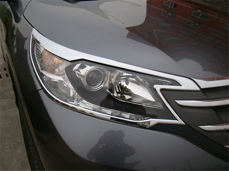 Car Styling Fit For Honda CRV CR-V 2012 2013 2014 ABS Chrome Front Headlight Head Light Lamp Cover Decoration Trim Auto Parts