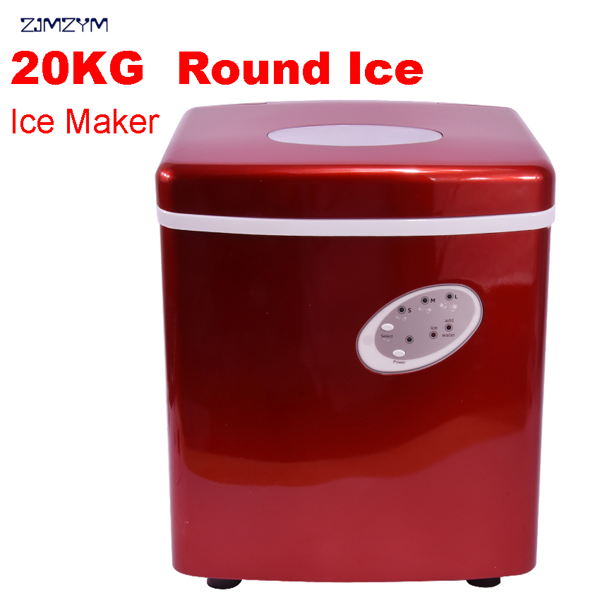 купить 1pc New HZB-15A commercial ice machine High efficiency compressor refrigeration Round ice Home ice maker 220V-240V/50HZ 120W