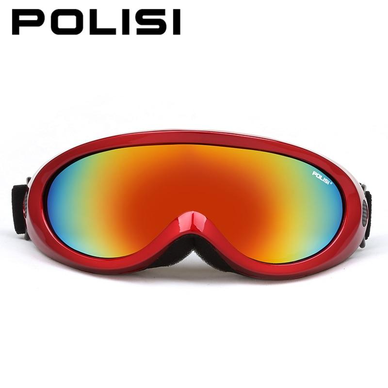 POLISI зима Спорт на открытом воздухе Сноуборд Очки Для мужчин Для женщин Снег лыжные очки UV400 Анти-туман мотоциклетные скейт Очки для лыжного ...