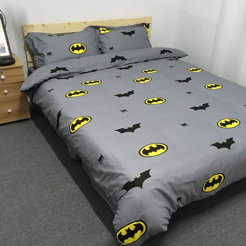 Us 64 71 10 Off Boys Batman Bedding Set Kids Simple Fashion Duvet Cover Bed Sheet Pillowcase Girls Lace Cotton Twin Queen King Size Beddings In