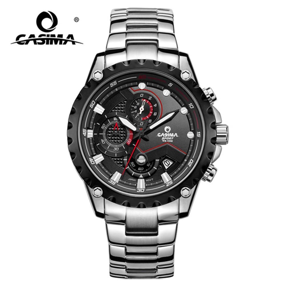 a5b5fbbb4 CASIMA أعلى العلامة التجارية الفاخرة الساعات الرجال بارد سحر الأزياء  الأعمال ساعة رجالي relogio masculino الكوارتز ساعة معصم للماء 100 m