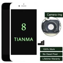 Prémio 10 PÇS/LOTE Para iphone Display LCD Para Tianma 8 Qualidade Digitador Da Tela de Toque LCD de 5.5 Polegadas Nenhum Pixel Morto