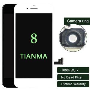 Image 1 - Premium 10 PZ/LOTTO Per iphone 8 Display A CRISTALLI LIQUIDI Per Tianma Qualità Dello Schermo di Tocco di 5.5 Pollici A CRISTALLI LIQUIDI di trasporto Digitizer No Dead Pixel