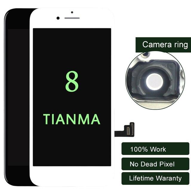 Premium 10 PZ/LOTTO Per iphone 8 Display A CRISTALLI LIQUIDI Per Tianma Qualità Dello Schermo di Tocco di 5.5 Pollici A CRISTALLI LIQUIDI di trasporto Digitizer No Dead Pixel