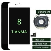 Premium 10 sztuk/partia dla iphone 8 wyświetlacz LCD dla Tianma jakości ekran dotykowy 5.5 cal LCD Digitizer nie martwy piksel