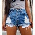 Sexy Women Jeans Vintage High Waist Hole Short Jeans Denim Sexy Shorts