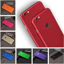 Ice Surface For iPhone 5 6 7 8 X Red Back Film Thin Screen Protector Protective Cover Stickers Color Paster Rear Decorative Film us flag pattern decorative pvc back protector sticker for iphone 6 plus 5 5 red deep blue