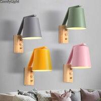 Mordern conduziu a iluminação da parede de madeira lâmpada de parede arandelas para hall quarto corredor lâmpada de leitura do banheiro lâmpada de cabeceira