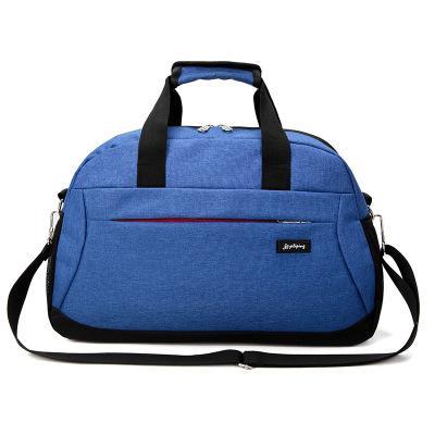 Новинка, корейские повседневные дорожные сумки, мужские дорожные сумки, нейлоновые дорожные сумки, вместительные сумки для багажа, сумки для путешествий - Цвет: Blue