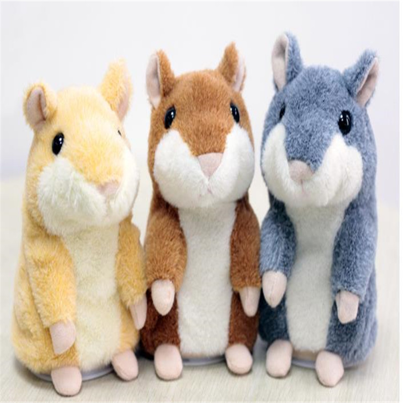 Talking Hamster Mouse Pet Plush Toy Hot Cute Speak Talking Sound Record Hamster Educational Toy for Children Gift ...