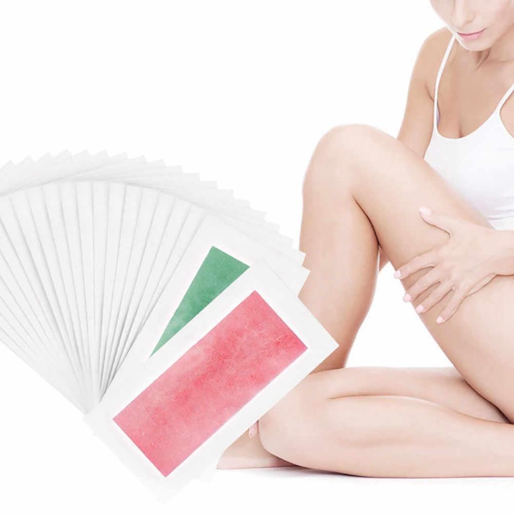 1 ADET Yaz Profesyonel Epilasyon Balmumu Şeritler epilasyon Için Çift Taraflı Soğuk Balmumu Kağıdı Bikini Bacak Vücut Yüz #5