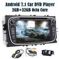 EinCar Android 7,1 2 ГБ + 32 ГБ стерео для Ford Focus 7 ''gps dvd плеер автомобиля двойной din Навигация головного устройства радиоприемник BT