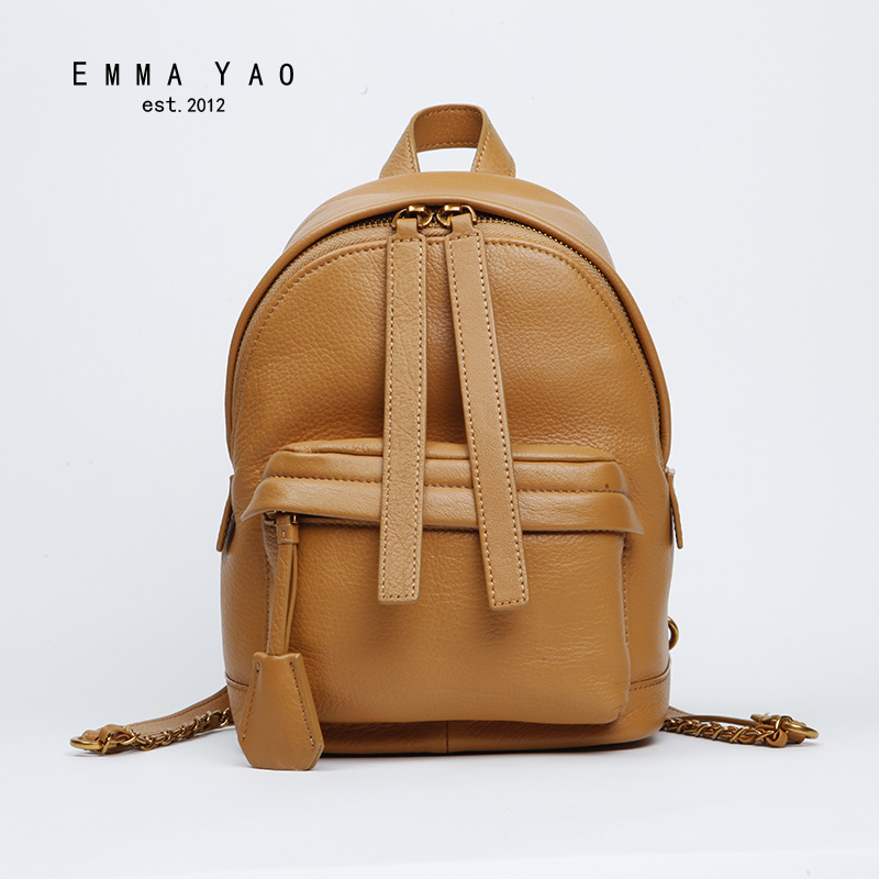 EMMA YAO women backpack genuine leather bag korean style brand fashion backpack emma yao leather women bag fashion korean tote bag new designer women messenger bags