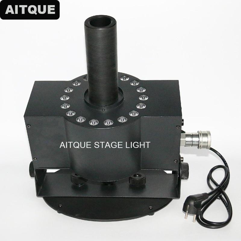 10 piezas equipos de escenario 18x3 w 3in1 led co2 jet Led Disco CO2 máquina de niebla fiesta Co2 Jet con DMX-512 Control
