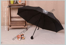 (6pcs/lot)three fold,hand open skull supermini pongee cloth waterproof,water repellent pocket umbrella,bag skeleton mini parasol(China)