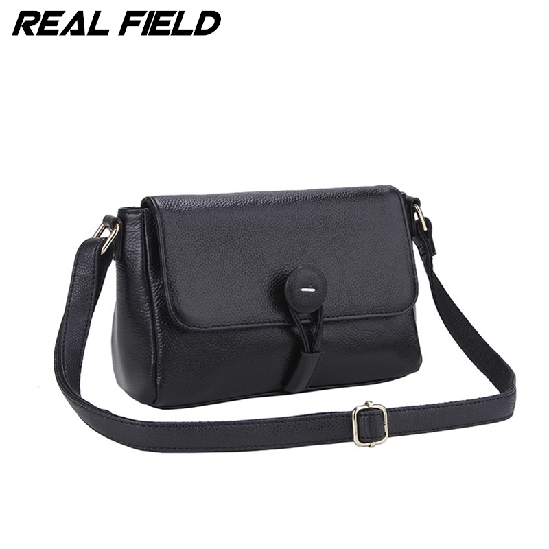 Real Field RF Brand Women Messenger Handbags New Fashion Genuine Leather Bags Shoulder Cowhide Small Flap Cover Bag 064 2017 fashion all match retro split leather women bag top grade small shoulder bags multilayer mini chain women messenger bags