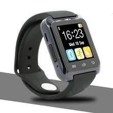 U80 Smartwatch Bluetooth Relógio Inteligente para iPhone IOS Android Telefone Inteligente Desgaste Relógio Wearable Dispositivo Smartwach PK U8 GT08 DZ09 w8