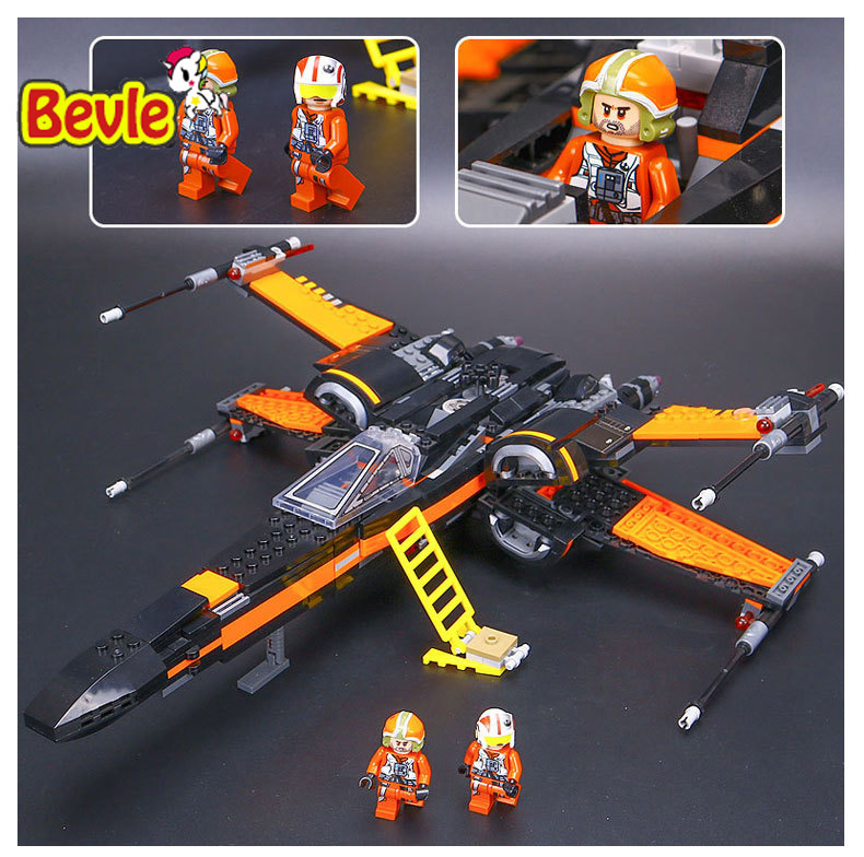 Bevle LEPIN 05004 Star Wars Space Wars Poe's X-Wing Fighters Building Block Compatible With Lepin Star Wars 75102 Toys