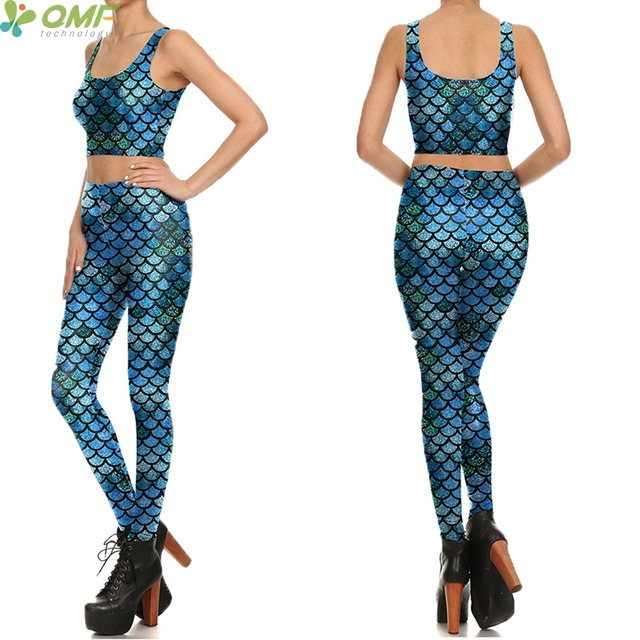 Cosplay Mermaid Womenu0027s Gym Yoga Suit Blue Fish Scale Mermaid Costume Sexy Seamless Sport Vest Sleeveless  sc 1 st  AliExpress.com & Cosplay Mermaid Womenu0027s Gym Yoga Suit Blue Fish Scale Mermaid ...