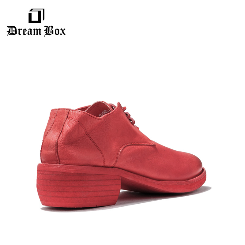 British Business Casual Men 39 s Leather Shoes Thick Bottom Increased Leather Retro Derby Shoes Fashion Tide Shoes in Men 39 s Casual Shoes from Shoes
