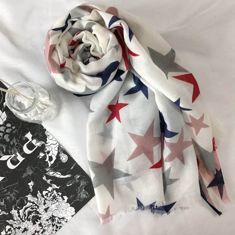 2018 Turkey famous design scarf star print shawl fashion islamic hijab scarfs women long scarf pashmina bandana shawls